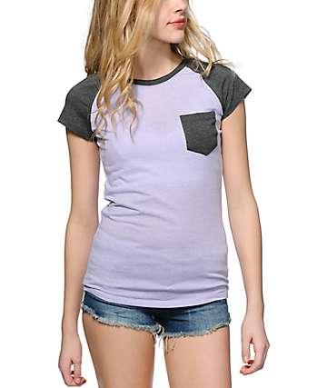 Empyre Petra Lavender & Grey T-Shirt