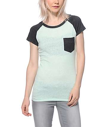 Empyre Petra Mint & Charcoal T-Shirt