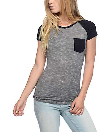 Empyre Petra Striped Grey T-Shirt