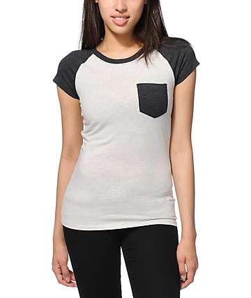 Empyre Petra White & Charcoal T-Shirt