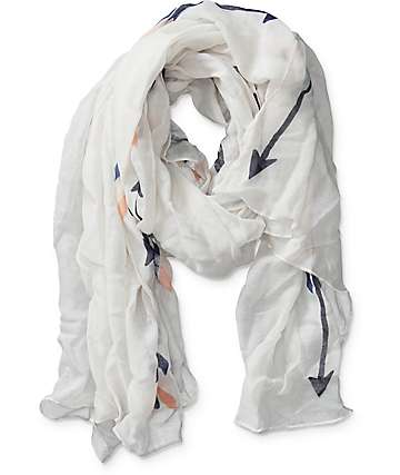 Empyre Phillis Cream Arrow Oblong Scarf