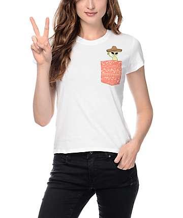 Empyre Pockito Cactus Baby White T-Shirt