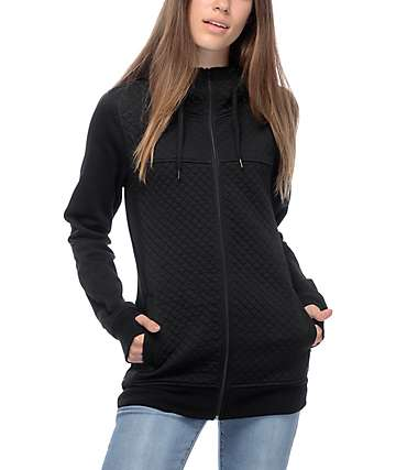 Empyre Potosi Black Quilted Tech Fleece Jacket