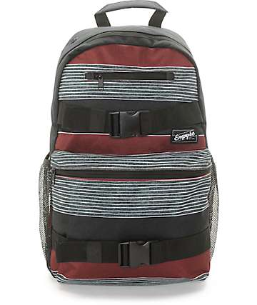 Empyre Quantum Burgundy Stripe Backpack