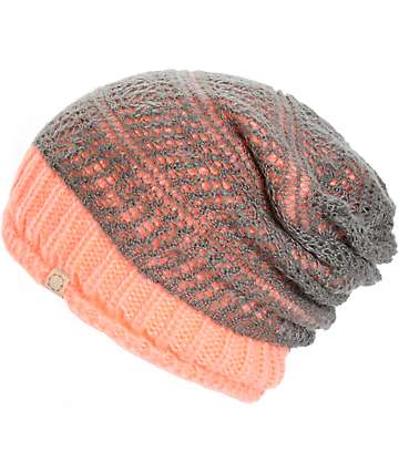 Empyre Rally Double Layer Neon Coral Beanie