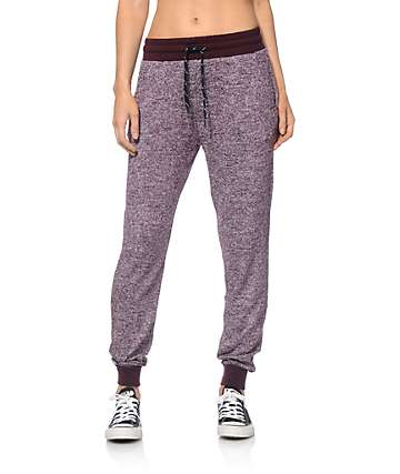 Empyre Remi Blackberry Speckle Jogger Pants