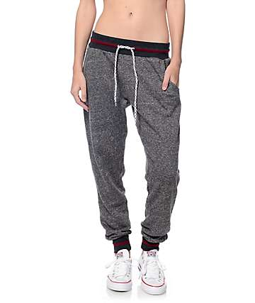 Empyre Remi Charcoal & Blackberry Stripe Jogger
