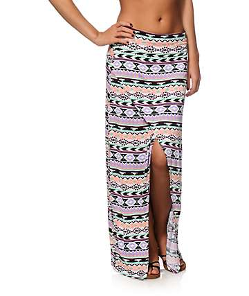 Empyre Renata Multi Tribal Maxi Skirt