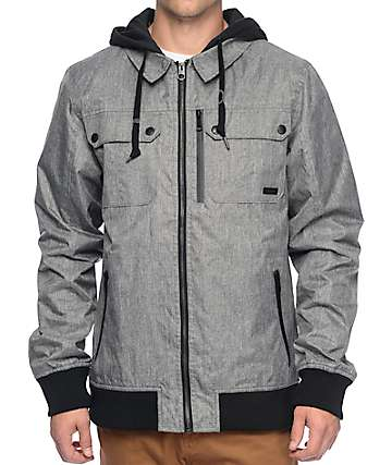Empyre Rerailed Charcoal Hooded Jacket