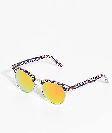 Empyre Retro Screech Yellow & Orange Revo Sunglasses