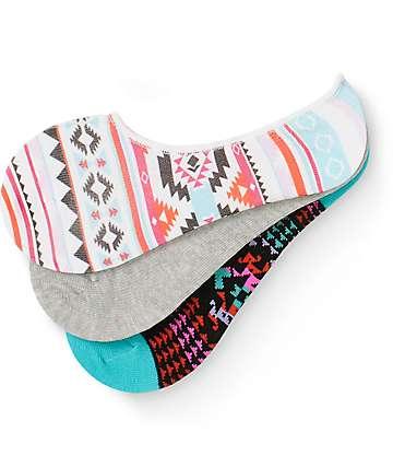 Empyre Rio Tribal 3 Pack No Show Socks
