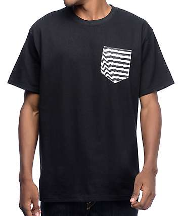 Empyre Ripple Pouch Pocket Black T-Shirt