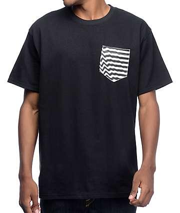 Empyre Ripple Pouch Pocket camiseta en negro