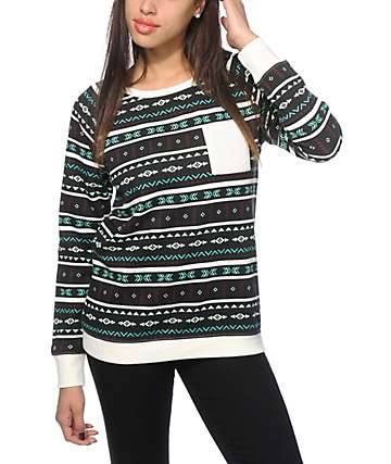 Empyre Robinson Multi Tribal Crew Neck Sweatshirt