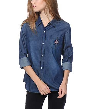 Empyre Ronelle Embroidered Denim Shirt