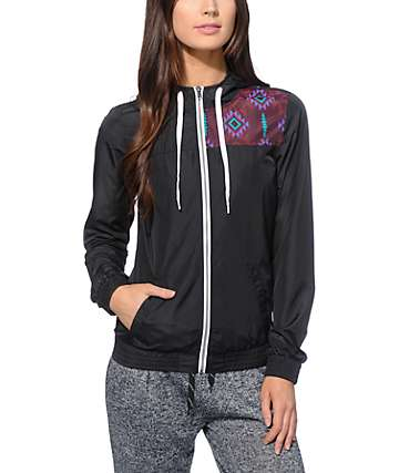 Empyre Roni Black Tribal Windbreaker Jacket