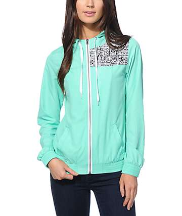 Empyre Roni Mint Tribal Windbreaker Jacket