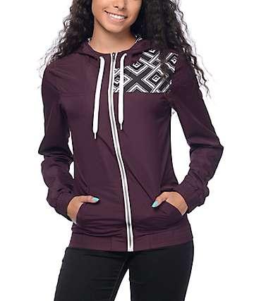 Empyre Roni chaqueta cortavientos geométrico en color mora