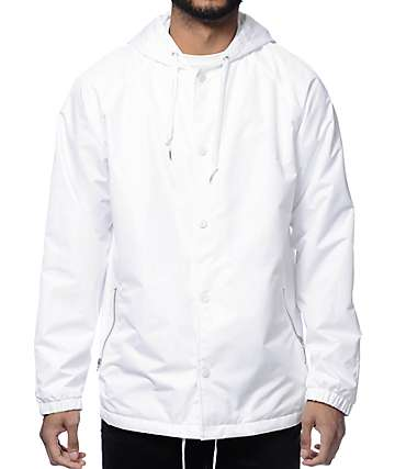 Empyre Roomie White Hooded Coach Jacket