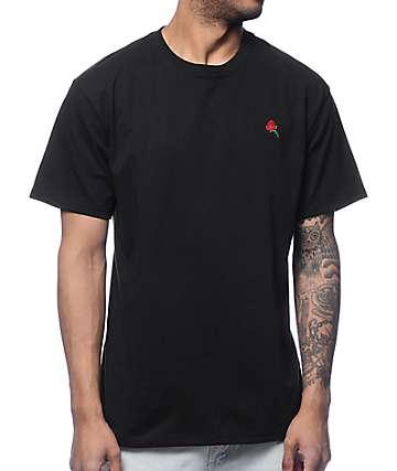 Empyre Rose bordado camiseta negra