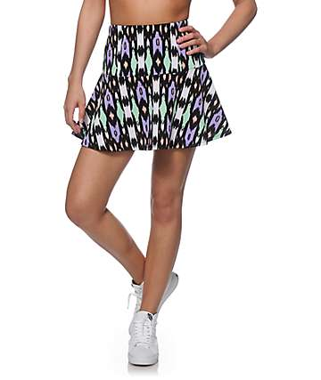Empyre Rosella Multi Tribal Fit & Flare Skirt