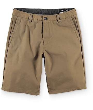 Empyre Rowdy Dark Khaki Canvas Chino Shorts