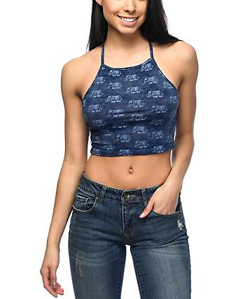 Empyre Roza Elephant camiseta corta sin mangas con efecto tie dye