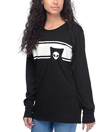 Empyre Ruben Alien Pocket Black Long Sleeve T-Shirt
