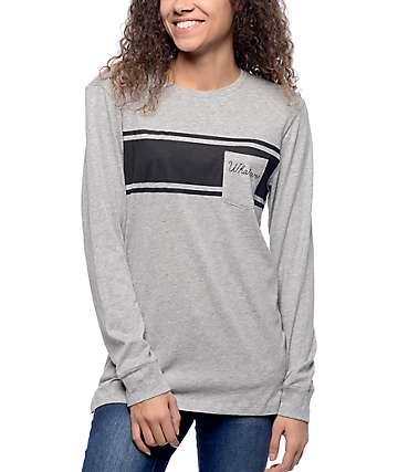 Empyre Ruben Heather Grey Long Sleeve T-Shirt