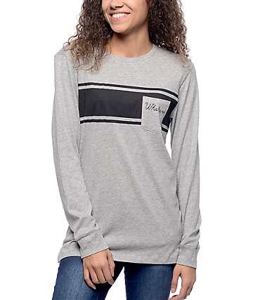 Empyre Ruben Heather Grey Long Sleeve T-Shirt