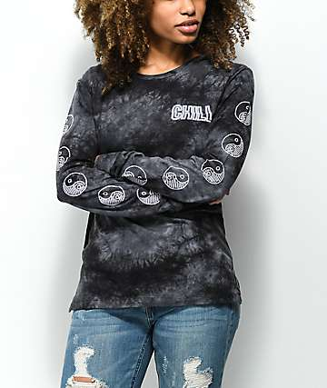 Empyre Rubino Chill Black Tie Dye Long Sleeve T-Shirt