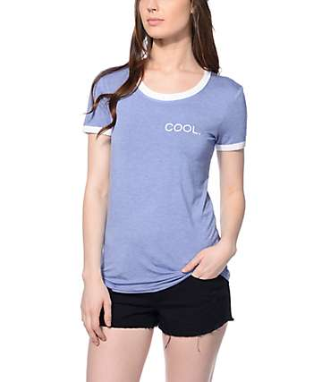 Empyre Rudd Cool Ringer Blue & White T-Shirt