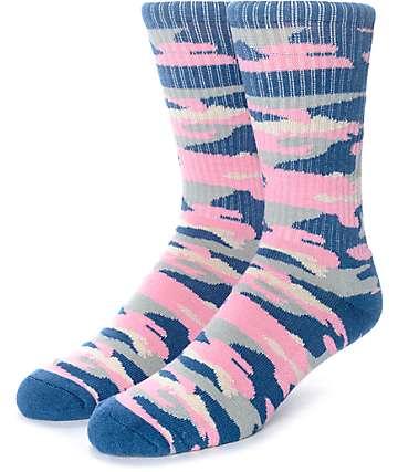 Empyre Run It Pastel Camo Crew Socks