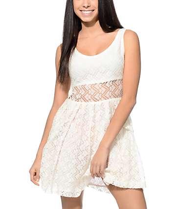 Empyre Sabina White Crochet Dress
