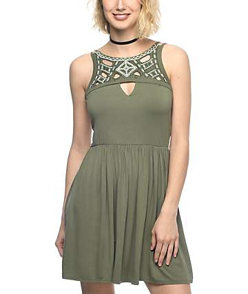 Empyre San Olive Embroidered Dress