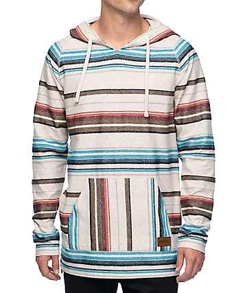 Empyre Santa Cruz Tan Stripe Poncho Hoodie