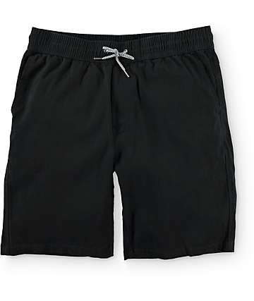 Empyre Sauce Easy Waist Black Chino Shorts