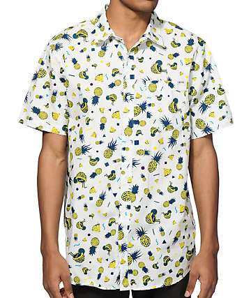 Empyre Saul Silver Pineapple Button Up Shirt