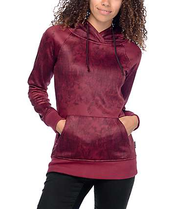 Empyre Seymore Burgundy Tie Dye Tech Fleece Hoodie