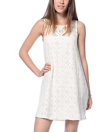 Empyre Shara Cream Crochet Detail Dress