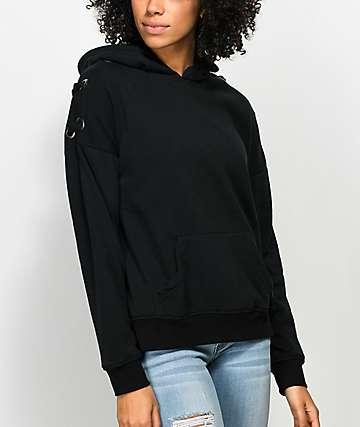 Empyre Shay sudadera negra con capucha y cordones