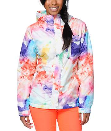 Empyre Showcase H2O White Faux Snowboard Jacket