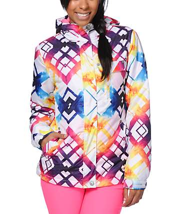 Empyre Showcase Tipsy White Faux Snowboard Jacket