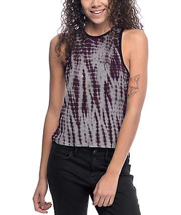 Empyre Shuvit Vibes camiseta sin mangas con efecto tie dye color vino