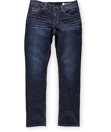 Empyre Skeletor Aged Raw jeans de corte ceñido