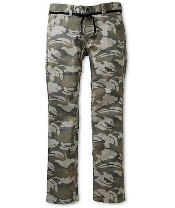 Empyre Skeletor Light Khaki Camo Print Skinny Chino Pants