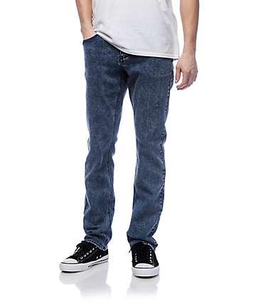 Empyre Skeletor skinny jeans en azul lavado ácido