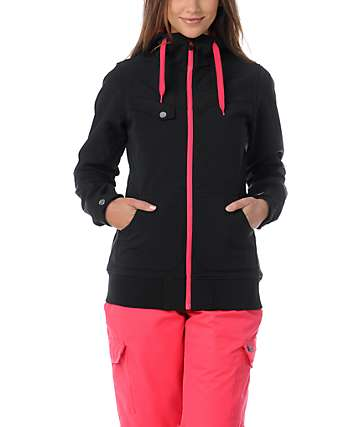 Empyre Skyline Black & Pink 10K Softshell Snow Jacket