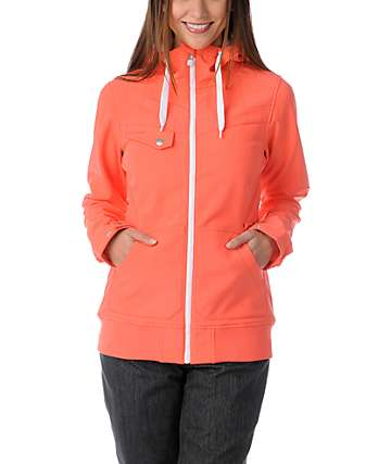 Empyre Skyline Hot Coral 10K Softshell Snow Jacket