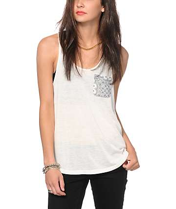 Empyre Slope Bandana Chiffon Back Tank Top